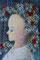 「花束」               F3キャンバス      刺繍,油彩