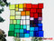 Fensterbild Bunte Vielfalt XXL Tiffany