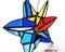 Stern buntes Fensterbild Tiffany