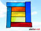 Tiffany Fensterbild bunte Vielfalt Glaskunst als Fensterdeko