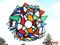 wildes Mandala Fensterdeko Tiffany Anhänger