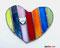 buntes Herz Tiffany Fensterbild Muttertagsgeschenk