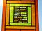 Fensterbild Gelbe Vielfalt XL Tiffany