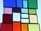 modernes Fensterbild Tiffany Regenbogen