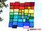 Fensterbild Bunte Vielfalt XL Tiffany
