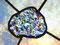 bunte Wolke Tiffany Fensterbild