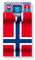 norwegische Hülle cardbox 109 Norwegen Flagge