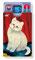 weiße Katze cardbox 111 Tomcat