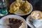 Salta - Tamal (ein Maisgericht) oder einen supersüssen Schokolade/Dulce de Leche-Kuchen ... wer hat wohl was verzehrt?