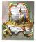 UNSER DORF SOLL AUFGEWERTET WERDEN; Öl und Guache auf Found Footage;  60 x 50cm; 2014