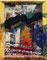 DAS SCHWEIGEN DER LEUTE; Öl, Acryl, Lack, Sticker auf Fundstück; 33 x 40cm; 2016