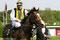 Earl of Winds unter Jockey Jozef Bojko nach dem Rennen in Bremen im Mai 2008.© www.race-impressions.com