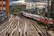 Hamburg: Gleisanlagen, Zufahrt zum Hauptbahnhof