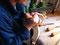 Um das Stechen der kunstvollen Schneckenwindungen vorzunehmen, benötigt man ca. 20 Hohleisen verschiedener Größe und Krümmung.