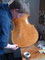 Nachdem die Grundierung des Instrumentes getrocknet ist, tragen wir wenige Schichten farblosen Lack auf.