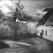 Alte Häuser | analoges Foto / Handabzug S/W | 2013 | Halle