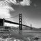 Golden Gate Bridge I - 2012, 90x60 fineArt print auf GlossArtFibre kaschiert, auf 4mm AluDiBond, Schattenfugenrahmen Nussbaum massiv