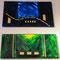Christa Kern  BLUE Acryl auf Leinwand; Blattgold 40x60 cm € 280,- GREEN Acryl auf Leinwand; Blattgold 30x60 cm € 250,-