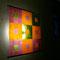 Ausstellung Kulturwerkstatt Haus 10, o.T., 2010, 90 x 90 cm, Echtantikglas geklebt/sandgestrahlt, Neonleuchte