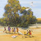 Flying Kite | Oil on Board | 430x430mm - framed | Richard Bogusz