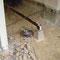 Achterkamer, houten draagvloer verwijderd
