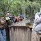 Fotografieren der Wildtiere vom sicheren Holzsteg aus