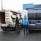 Michel mit Toyota, Daniel mit Fiat Ducato beim Hafen in Halifax