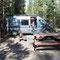 Ausruhen auf dem Campingplatz nach 5 stündiger Wanderung
