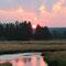 Sonnenuntergang beim Campingplatz Norris