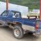 Dawson City, auch dieser Toyota steht in der hinteren Gasse