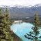 Lake Louise mit dem Chateau und im Hintergrund das Skigebiet