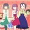 ❀ (キッツちゃんとおとはちゃんお借りしました!左からキッツちゃん、サチカ、テア嬢、おとはちゃん、レイン、中学生コウコ)