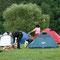 ohne Feuerstelle geht auf tschechischen Zeltplätzen nichts!