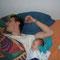 Da kann man auch nicht abstreiten, dass Iian sein Sohn ist.. Sie schlafen sogar gleich... ;-)