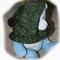 Halsteil mit Kapuze und Bommel, aus Wolle 2-farbig