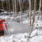 雪解けを操作する実験(ジェットヒーターを使用)