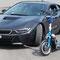Das Magic-Bike wurde durch Viktor Borsodi in den Farben von BMW gestaltet und für Prinz Leopold nach Absprache gebaut.