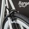 Freno posteriore Z-Star e pneumatico da 28 mm della bicicletta a scatto fisso fosforescente Swan