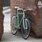 Bicicletta fissa Tiffany in esterno vista laterale