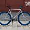 Primo piano bixie bike Aqua in esterno