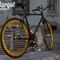 Bici fissa Eldorado in esterni con luce pomeridiana