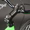 Particolare della pipa manubrio e blocco Neco della fixed bike Dragonfly