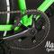 Dettaglio della guarnitura della bicicletta fissa Dragonfly