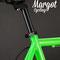Contrasto fra il verde fluo ed il nero nella bici scatto fisso Dragonfly