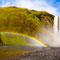... sogar ein Regenbogen zeigte sich am Skogafoss