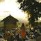 聖地ラリベラ 教会のある丘の上で説法を説く修道士
