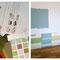 Bemusterungen von Stoffen und Wandfarben / Anmischen von Farben mit Pigmenten