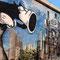 Wandmalereien an der Gladbecker Straße gegenüber der Uni Essen