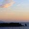 La baia di Campese al tramonto