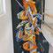 Graffiti-Art in einem Neubau Einfamilienhaus in Bedingen. 5.5 m x 2.6 m.